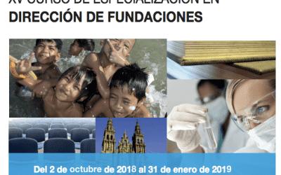 XV Curso de especialización en Dirección de Fundaciones